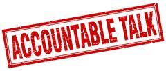 Accountable talk square stamp Stock Illustration