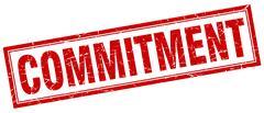Commitment square stamp Stock Illustration