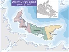 Map of Prince Edward Island Stock Illustration