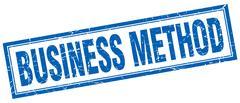 Business method square stamp Stock Illustration