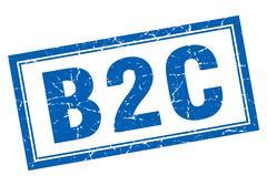 B2c square stamp Stock Illustration