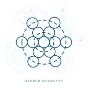 Sacred geometry sign. Linear Modern Art Piirros