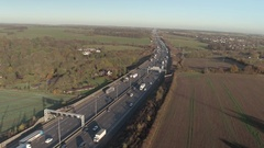 Motorway in the Early Morning Stock Footage