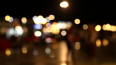 People walk through the city. Stock Footage