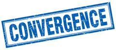 Convergence square stamp Stock Illustration