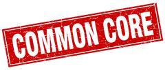 Common core square stamp Stock Illustration