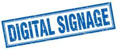Digital signage square stamp Stock Illustration