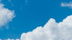 White clouds in the blue sky, time-lapse Stock Footage