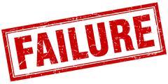 Failure square stamp Stock Illustration