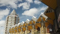 Cube houses designed by Piet Blom Stock Footage