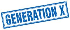 Generation x square stamp Stock Illustration
