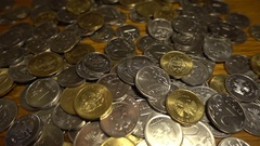 Russian rubles close-up coins Stock Footage