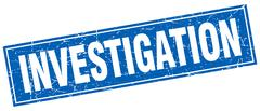 Investigation square stamp Stock Illustration