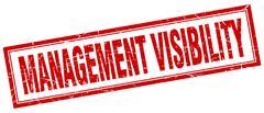 Management visibility square stamp Stock Illustration