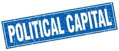 Political capital square stamp Stock Illustration