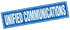 Unified communications square stamp Stock Illustration