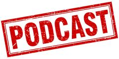 Podcast square stamp Piirros