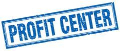 Profit center square stamp Stock Illustration