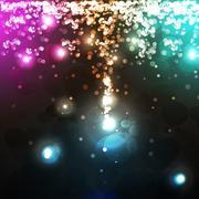 Abstract Gold Glittering Star Dust - Vector Illustration Stock Illustration