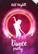Dance Party Poster Background Template - Vector Illustration Stock Illustration