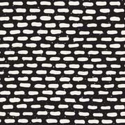 Vector Seamless Hand Drawn Horizontal Rounded Lines Pattern Stock Illustration
