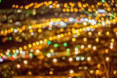 Festive background with natural bokeh, abstract defocused city lights Kuvituskuvat