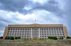 Former kazakh parliament building, Almaty Stock Photos