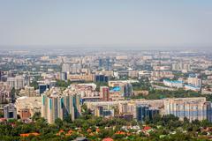 View over Almaty skyline Stock Photos