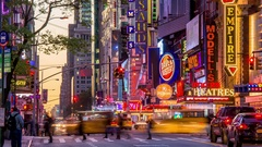 42nd Street in New York City Stock Footage