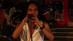 Singer sings the song at the Hot Tuna bar on a Walking Street, Pattaya. Thailand Stock Footage