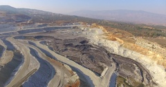 Coal Mining Pit, 2016 Stock Footage