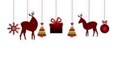 Hanging Christmas ornaments Stock Illustration