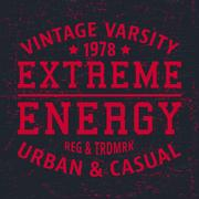Extreme energy vintage stamp Stock Illustration