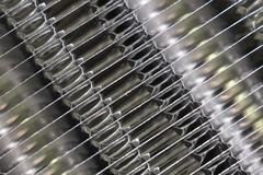 Details of the car engine radiator. Macro close-up of the radiator plates. Stock Photos