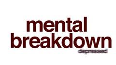 Mental breakdown animated word cloud. Stock Footage