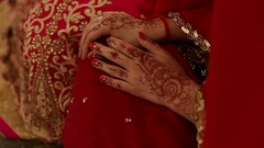 Indian wedding ceremony. mehendi hand Stock Footage