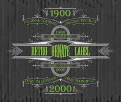 Vintage typographic label premium Stock Illustration