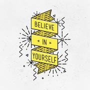 Belive in yourself Inspirational illustration, motivational quotes Piirros