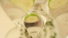 Fresh cocktail alcohol drink Stock Footage