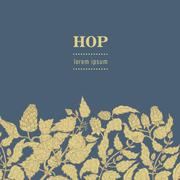 Seamless pattern with hops. Vector illustration. Stock Illustration