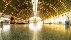 The Train station HuaLamphong in Bangkok Stock Footage