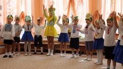 Holiday in kindergarten Stock Footage