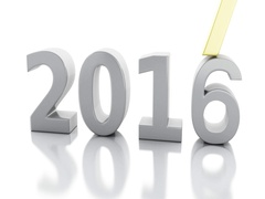 3d New Year 2017 Stock Footage