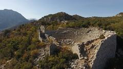 Antic town Termessos, Turkey Stock Footage