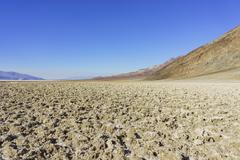 Beautiful landscape around Badwater Basin Stock Photos