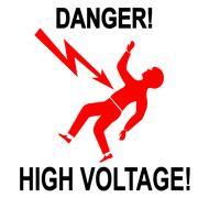 Danger High Voltage Stock Illustration