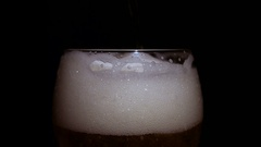 Fresh Draught Beer Stock Footage