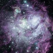 Universe filled with nebula, stars and galaxy. Stock Photos