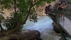 Tourists visiting the Saklıkent National Park Stock Footage