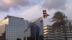 Redlight turning green Stock Footage